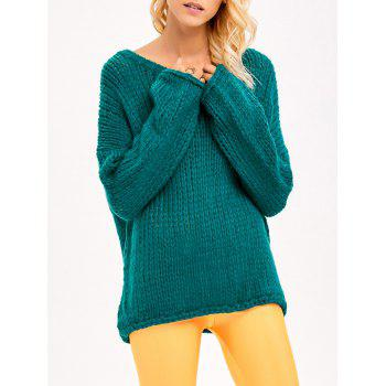 Drop Shoulder Chunky Sweater