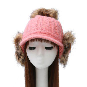 Pom Ball Hemp Flowers Hat with Earflaps