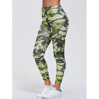 Camo Print Stretchy Gym Leggings