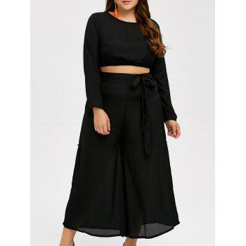 Plus Size Cropped Top and Palazzo Pants