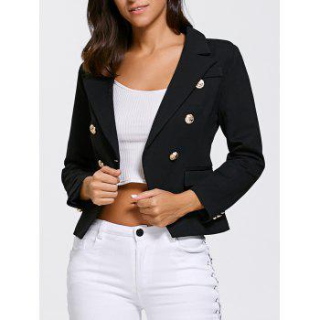 Double Breasted Slimming Short Blazer