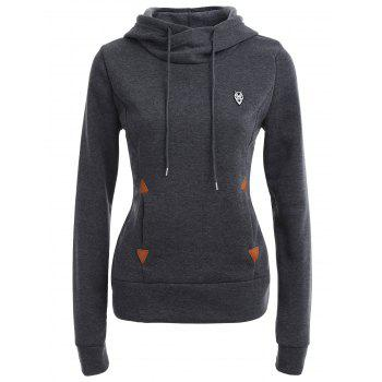 Pocket Patched Pullover Hoodie