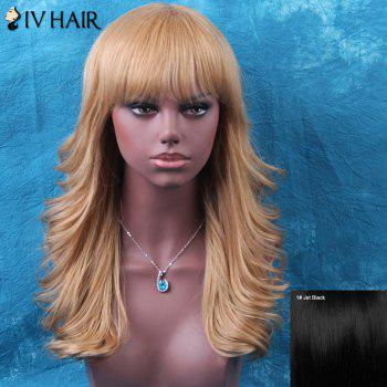 Siv Tail Upwards Long Neat Bang Shaggy Wavy Human Hair Wig