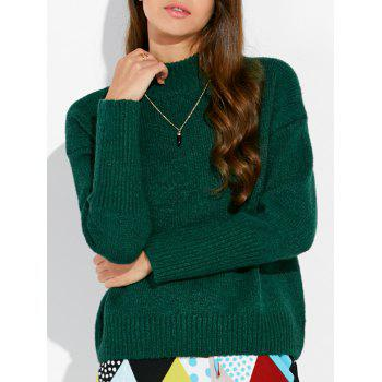 Mock Neck Loose Sweater
