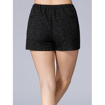 Triangle Jacquard Button Plus Size Shorts - 2XL 2XL