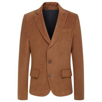 Single Breasted Turndown Collar Woolen Coat