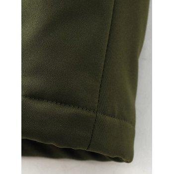 Skirted Drawstring Utility Coat - ARMY GREEN ARMY GREEN