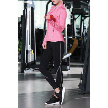Zip Up Jacket With Bra With Yoga Pants - ROSE MADDER M
