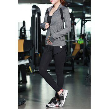 Zip Up Jacket With Bra With Sports Pants - M M