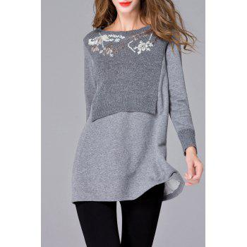 Embroidered Loose Sweater