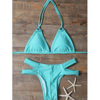 Halter Padded Cut Out Bikini Set