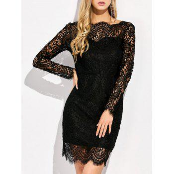 Backless Lace Mini Bodycon Dress