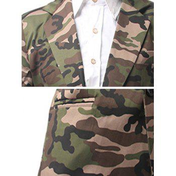 Camo Pocket One Button Blazer - Vert Armée M
