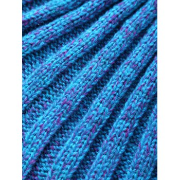 Comfortable Knitting Fish Scales Mermaid Tail Style Blanket - BLUE