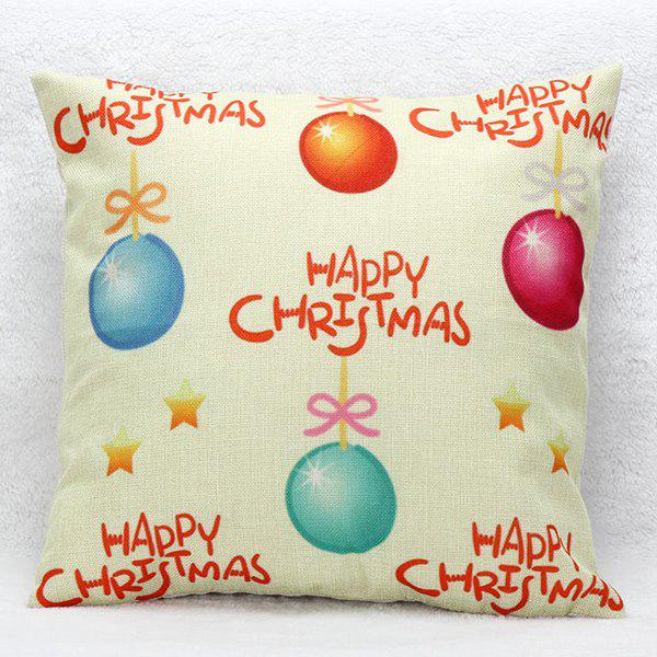Christmas Balloon Cushion Pillow Cover Home DecorationHome<br><br><br>Color: PALOMINO