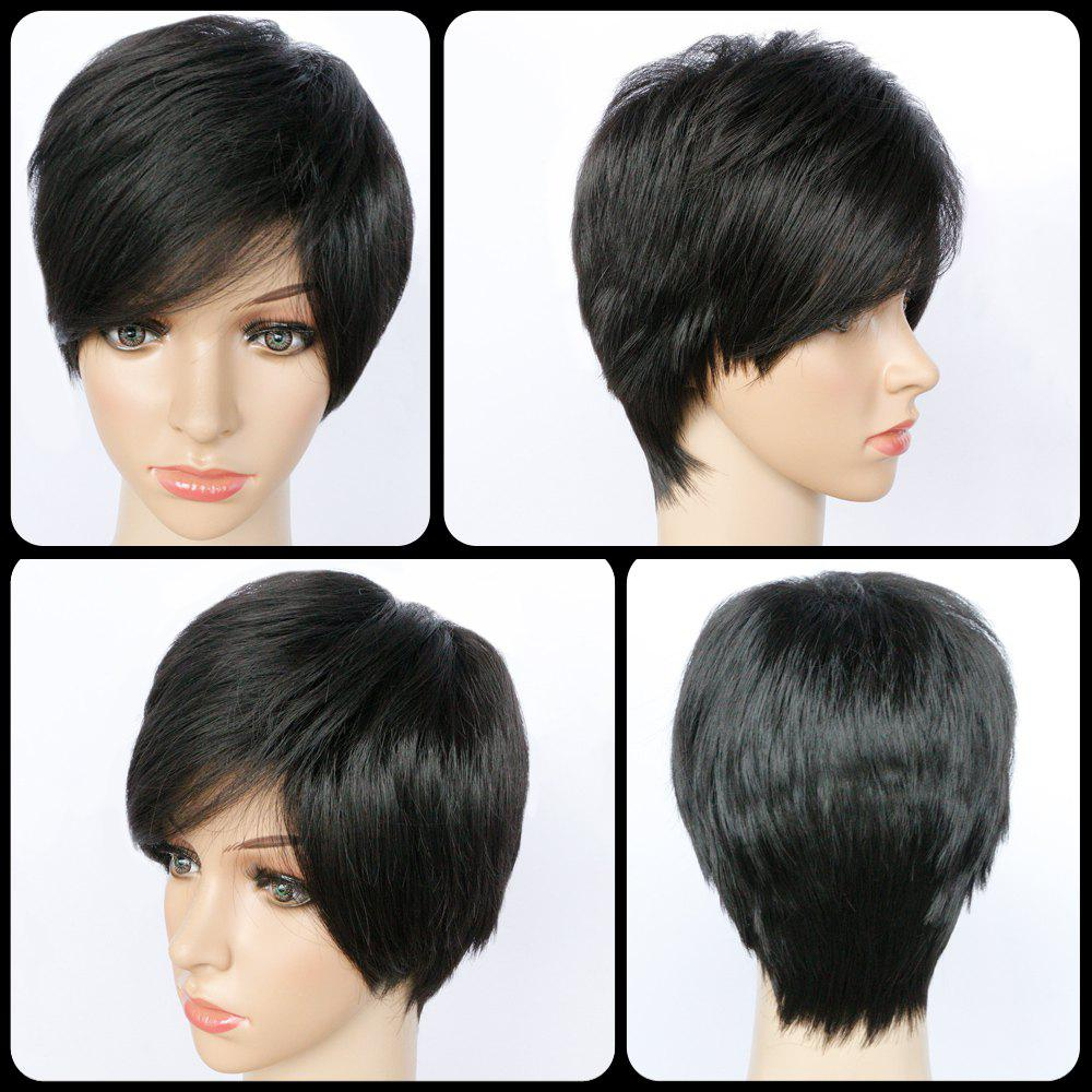 Pixie Cut Side Bang Short Straight Synthetic Capless Wig