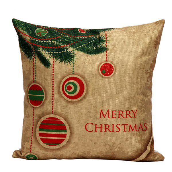 Christmas Tree Hanger Cushion Home Office Pillow CoverHome<br><br><br>Color: LIGHT BROWN