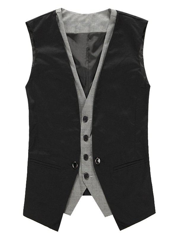 V Neck Single Breasted Faux Twinset Waistcoat advanced 128gb cctv camera 50 meters night vision waterproof housing