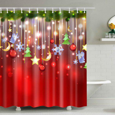 Christmas Waterproof Bathroom Shower Curtain - COLORMIX L