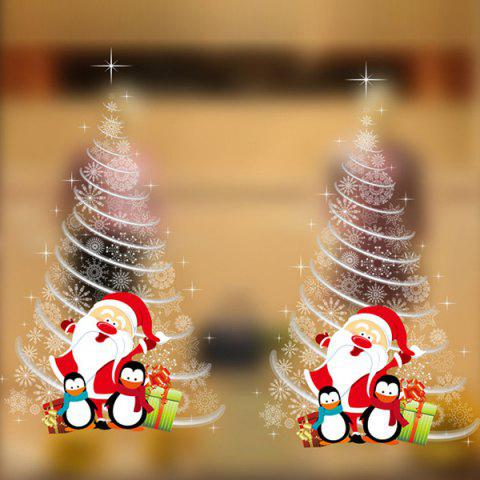 Christmas DIY Xmas Tree Pattern Removable Wall Stickers - WHITE
