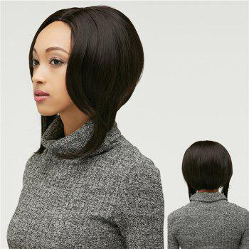 Women's Short Layered Bob Black Synthetic Hair Wig