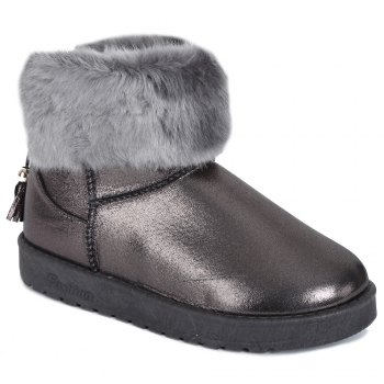 PU Leather Tassels Faux Fur Snow Boots