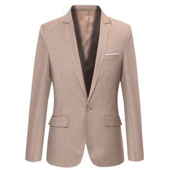 Simple Edging Lapel One Button Design Blazer