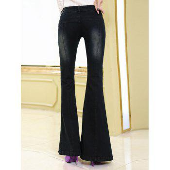 Stretchy Bell Button Jeans