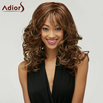 Outstanding Charming Long Deep Wavy Towheaded Mixed Color Women's Synthetic Wig - COLORMIX COLORMIX