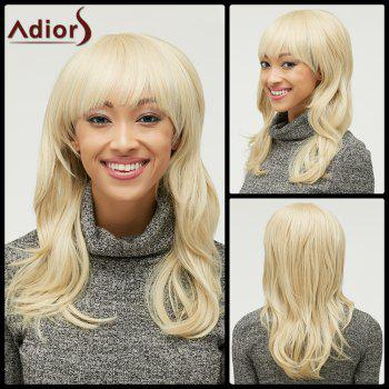 Buy Stylish Fluffy Natural Wave Full Bang Capless Light Blonde Long Heat Resistant Synthetic Women's Wig GOLDEN