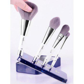 6 Pcs Aries Magnetic Makeup Brushes Set with Iron Box - BLUE