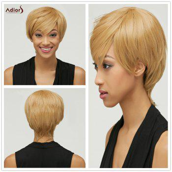Trendy Women's Mixed Color Short Fluffy Side Bang Synthetic Hair Wig