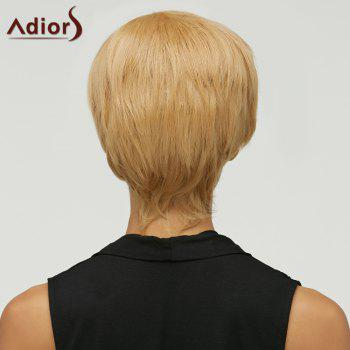 Trendy Women's Mixed Color Short Fluffy Side Bang Synthetic Hair Wig - COLORMIX