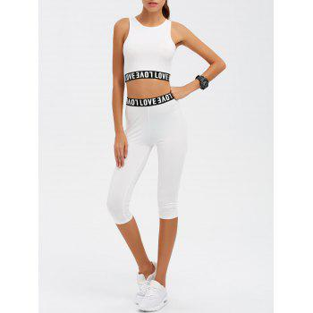 Love Graphic Tank Top and Pants Twinset