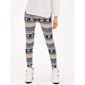 Christmas Patterned Stretchy Aztec Print Leggings