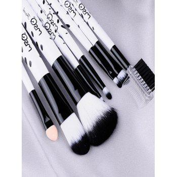 8 Pcs Daily Kit Pinceaux de maquillage de vache - Blanc