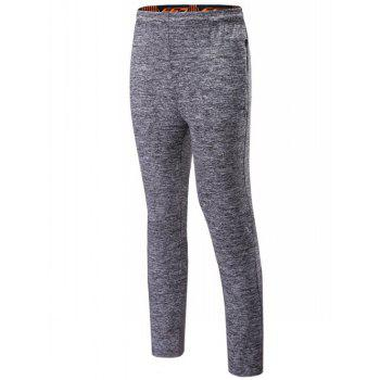 Drawstring Sports Pants with Zips