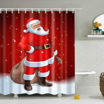 Merry Christmas Santa Claus Waterproof Bathroom Curtain