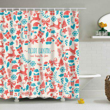 Merry Christmas Mouldproof Waterproof Shower Curtain
