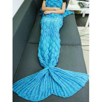 Super Soft Knitted Fish Scale Sleeping Bag Mermaid Blanket