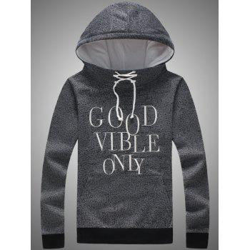 Pocket Front Lace Up Graphic Hoodie