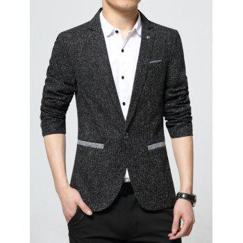 Texture Contrast Pocket One Button Blazer