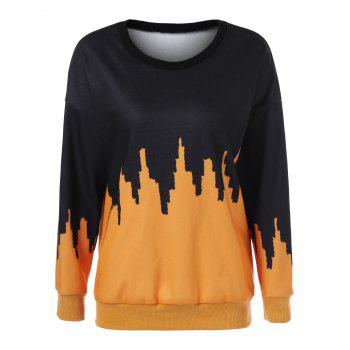 Drop Shoulder Print Sweatshirt