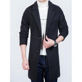 Lapel Collar Single Breasted Wool Mix Overcoat