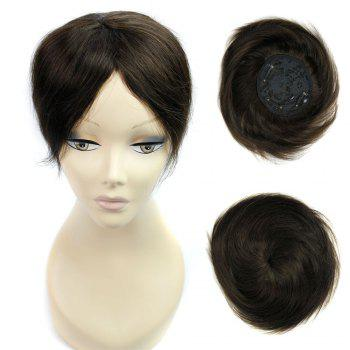 Side Parting Short Pixie Straight Toupee - BLACK BLACK