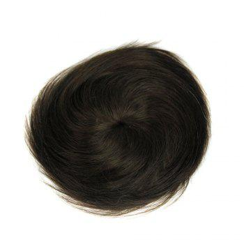 Side Parting Short Pixie Straight Toupee -  BLACK