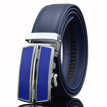 Faux Leather Automatic Buckle Belt
