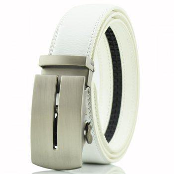 Letter U Automatic Buckle PU Waist Belt