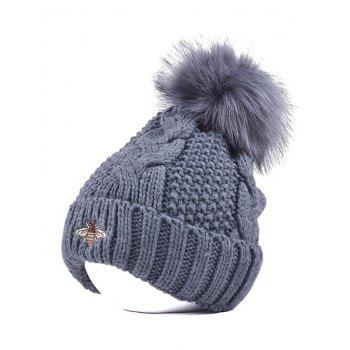 Winter Pom Ball Flanging Bee Knitted Beanie