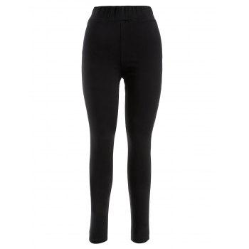 Plus Size Skinny Luster Flocking Leggings